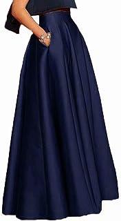 809456587 Amazon.es: faldas largas fiesta - Azul