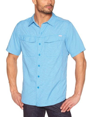 Columbia Silver Ridge Chemise homme Hyper Blue Small Plaid FR : S (Taille Fabricant : S)