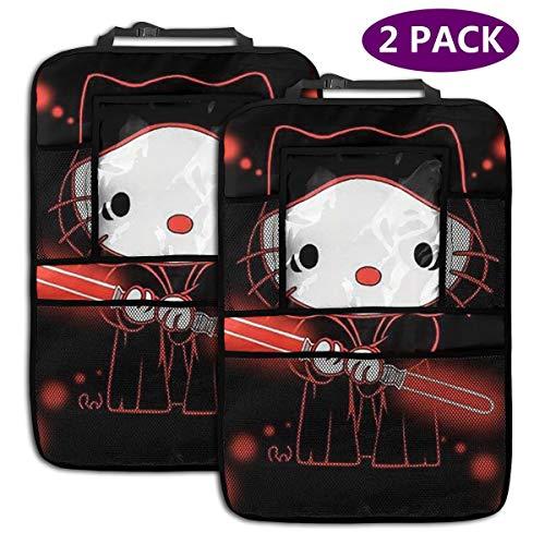 TBLHM Hello Kitty et Star Wars Lot de 2 Sacs de Rangement pour siège arrière de Voiture avec Support pour Tablette
