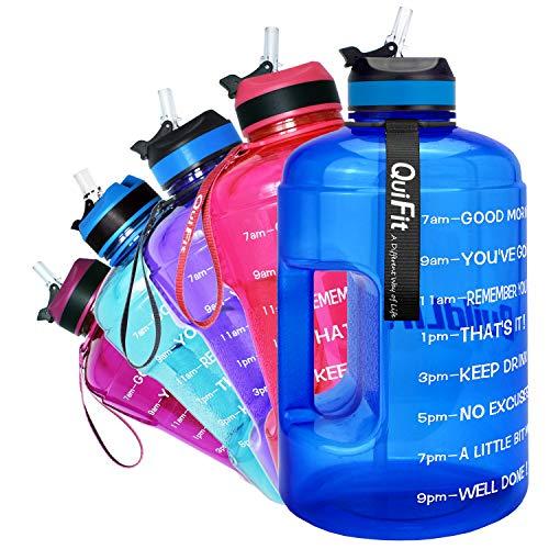 QuiFit 2.2L Trinkflasche mit Aufgedruckter:
