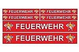 Finest Folia 6 pegatinas para coche, barco, caravana, autobús, bicicleta, diseño de camión teledirigido (R023), color rojo
