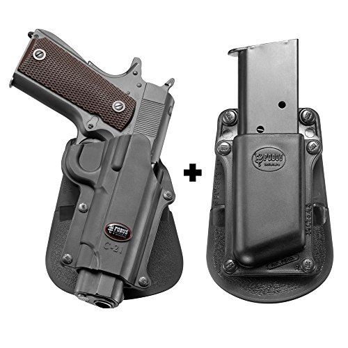 Fobus C-21 Paddle Concealed Carry Holster Sasilmaz Klinic 2000 light + 3901-45 Single Mag Pouch