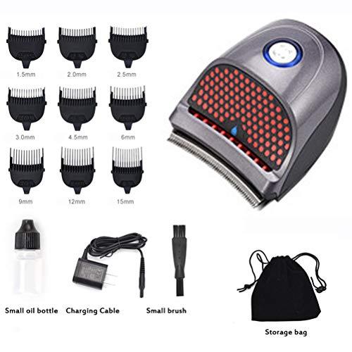 GFPR Mini Tondeuse à Cheveux Portable, 9 Limite Peigne Outils de Coiffure pour Hommes Tondeuse à Cheveux Rechargeable 7.3 * 8cm