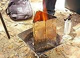 ライソン CHIMNEY STARTER 火起こし器 初心者でも簡単! 折りたたみ式 煙突効果で効率よく火起こし ステンレス製で丈夫で長持ち ハンドル付き 超薄型に折りたたみ収納可 収納バッグ付き