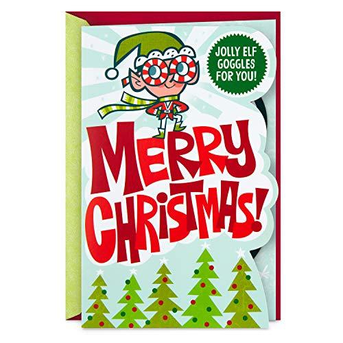 Hallmark Christmas Card for Kid (Removable Elf Goggles) (399XXH3071)