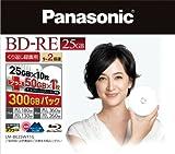 パナソニック ブルーレイディスク 日本製 くり返し録画用2倍速 25GB×10枚+50GB×1枚書換型11枚パック LM-BE25W11G(-)