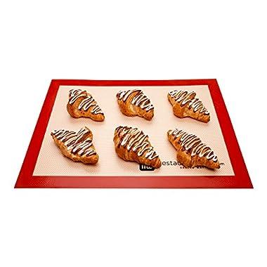 Silicone Baking Mat, Nonstick Mat, Heat Resistant Baking Mat, Cookie Mat - Full Sheet - 11.80  x 15.75  - 1ct Box - Restaurantware