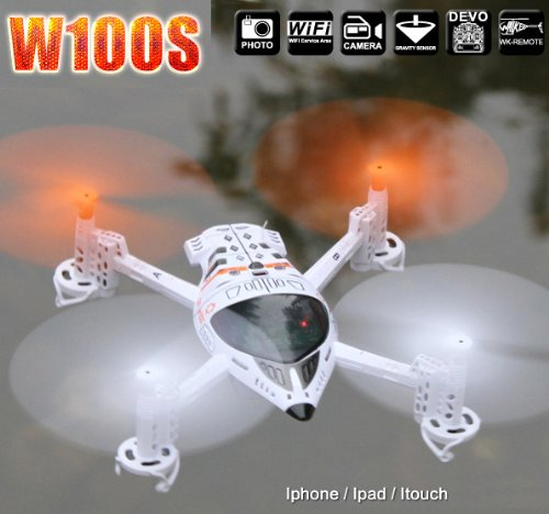 Walkera QR W100S iPhone Controllable Quad-copter RTF with Devo 4 Transmitter (ship from California)