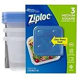 Ziploc Behälter, mittelgroß, quadratisch, 40 oz, 3 ct
