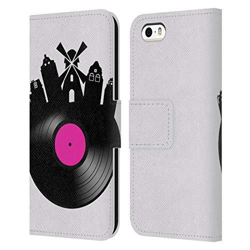 Head Case Designs Licenza Ufficiale Mark Ashkenazi Amsterdam Musica Cover in Pelle a Portafoglio Compatibile con Apple iPhone 5 / iPhone 5s / iPhone SE 2016