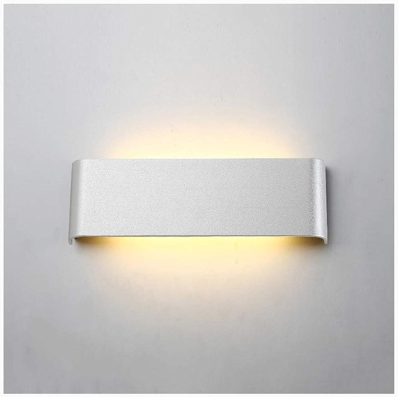 Wandleuchte lampe Wandleuchte Moderne minimalistische LED Wohnzimmer Schlafzimmer Treppe Wand Studio Wandleuchten (Farbe   Silber-10W 30CM)