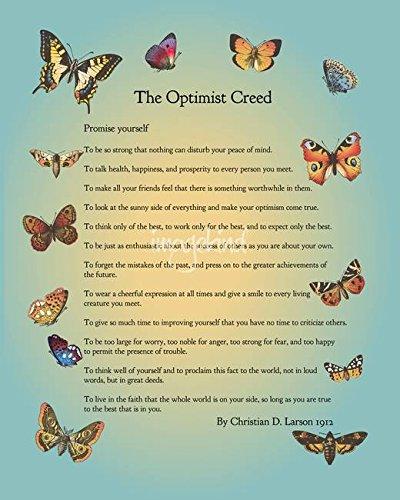 Imagekind Wall Art Print Entitled The Optimist Creed by Doe Zantamata   11 x 14