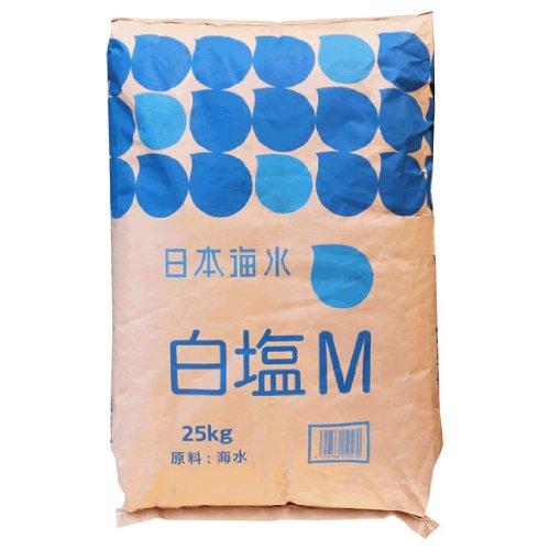 ★業務用★日本海水 白塩M(さぬき塩中粒)25kg