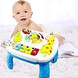 Shhjjyp Musikalischer Lerntisch, Baby-Spielzeug, Aktivitätstisch für Babys, Kinder, Musik-Aktivitätstisch mit Licht und Musik, frühes Lernspielzeug für Kinder, Babys und Kleinkinder