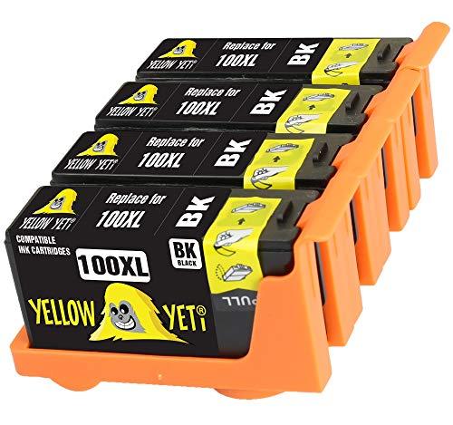 Yellow Yeti Ersatz für Lexmark 100 100XL 14N1068E Druckerpatronen Schwarz kompatibel für Lexmark S305 S402 S405 S505 S602 S605 S815 S816 Pro 202 205 208 209 705 805 901 905