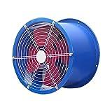 Ventilador Extractor Ventilador axial con soporte de motor Granja de alta potencia, ventilador de escape, ventilador de escape de conducto, potente, ventilador de ventilación industrial, azul Extracto