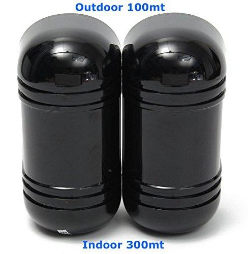 Détecteurs Sensoriels à Infrarouges pour Extérieurs 100m Double Je Panse de Sûreté ABT-100