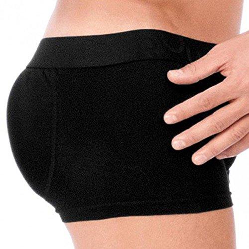 ROunderbum Men's Butt-Enhancing Padded Trunk, Black, Small