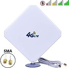 Aigital SMA 4G-Antena, 4G LTE Antena Dual Mimo 35dBi Alto Ganancia Red Ethernet Al Aire Libre Antena Receptor Amplificador Booster para WiFi Router Banda Ancha Móvil (SMA 35dBi