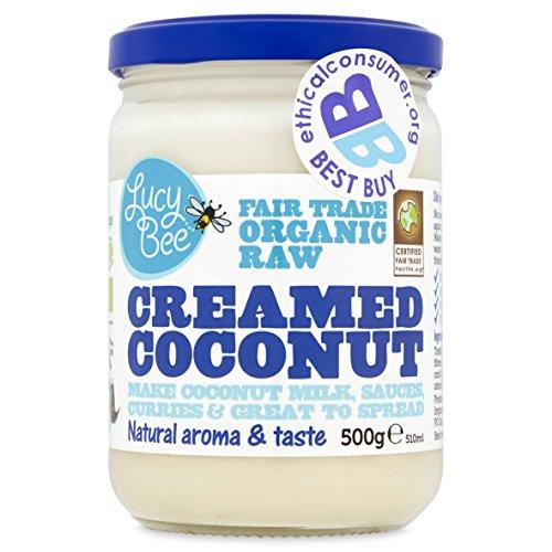Lucy Bee Fair Trade Organic Raw Creamed Coconut, 500 g