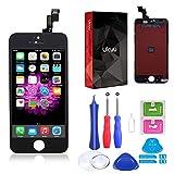 ukuu Pantallas Táctil LCD Reemplazo Retina de Pantalla para iPhone 5C con Herramientas, Negro