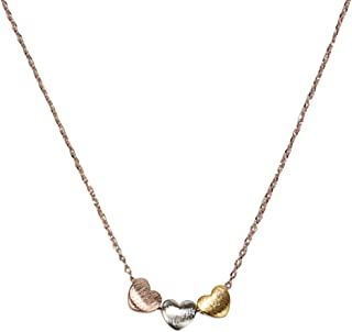 Handmade ♥ ♥ ♥ 3 Heart Necklace for Women Gold, Silver or Rose Gold Collection