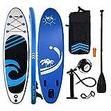HIJOFUN Tabla de surf de remo hinchable con accesorios para tabla de surf, longitud de 3,5 m, para adultos y niños.
