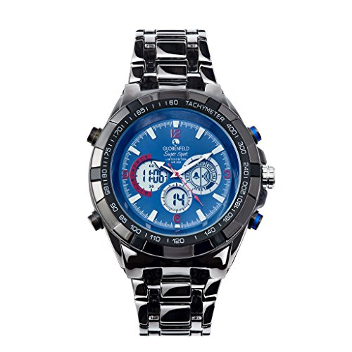 Globenfeld Super Sport Mens Watch - Chronograph Quartz, Analog Display - Limited Edition - Classic Minimalist Simple Design - Scratch Resistant Glass - 5 Year Warranty, 60 Days Risk Free