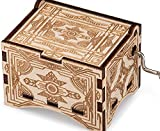 TheLaser'sEdge, Personalizable Vintage Music Box, Laser Engraved Wood (Standard, La Vie En Rose)