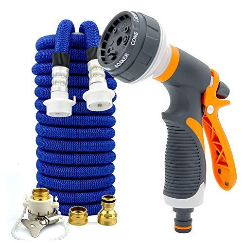 Tuinslang Spuitpistool met hoge druk Spuitpistool, voor auto & huisdier wassen/water geven gazon en tuin/zijwandreiniging 50FT/15m ORANJE