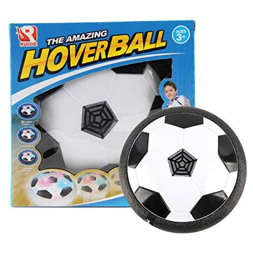 Ballylelly Lustiges LED-Licht blinkendes Ballspielzeug Air Power Fußballscheibe Indoor-Fußballspielzeug Mehrflächiges schwebendes Segelflugzeug