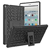 ROISKIN FlRE Tablet 10 Inch Case Cover (9th/7th Generation,2019/2017 Released), [Kickstand Feature] Dual Layer Heavy Duty Shockproof Impact Resistance Protective Case