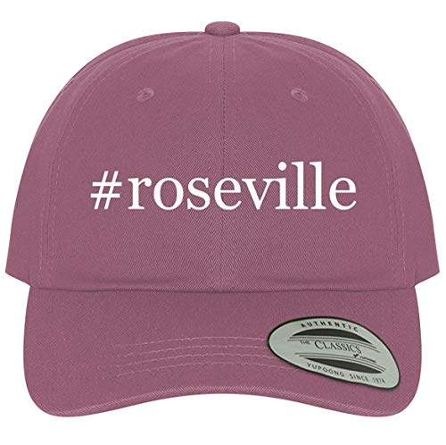 The Town Butler #Roseville - A Comfortable Adjustable Hashtag Dad Baseball Hat, Pink, One Size