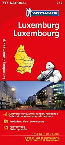 Michelin Luxemburg: Straßen- und Tourismuskarte (MICHELIN Nationalkarten)
