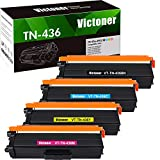 Victoner Compatible Toner Cartridge Replacement for Brother TN-436 TN436 TN-433 for Brother MFC-L8900CDW HL-L8360CDW HL-L8360CDWT MFC-L9570CDW HL-L9310CDW Printer (Black Cyan Magenta Yellow, 4-Pack)