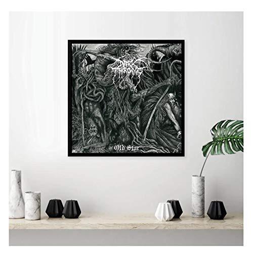 ZFLSGWZ Darkthrone Old Star Cover Poster 2019 Album Art Seidenmalerei Poster Home Decor Bilder An Der Wand -60X60Cm No Frame