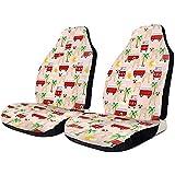 Sobre-mesa Vordersitzbezüge 2-teilig Mops mit Bus-Palme, rutschfest, atmungsaktiv, elastisch, universeller Autositzschutz