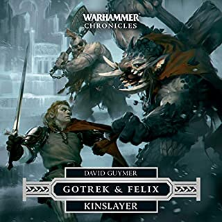 Kinslayer     Warhammer Chronicles              By:                                                                                                                                 David Guymer                               Narrated by:                                                                                                                                 Jonathan Keeble                      Length: 12 hrs and 54 mins     49 ratings     Overall 4.8