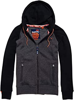 521ec73b05a25 Superdry Orange Label Raglan Zip Hood Sweat-Shirt À Capuche Sport Homme