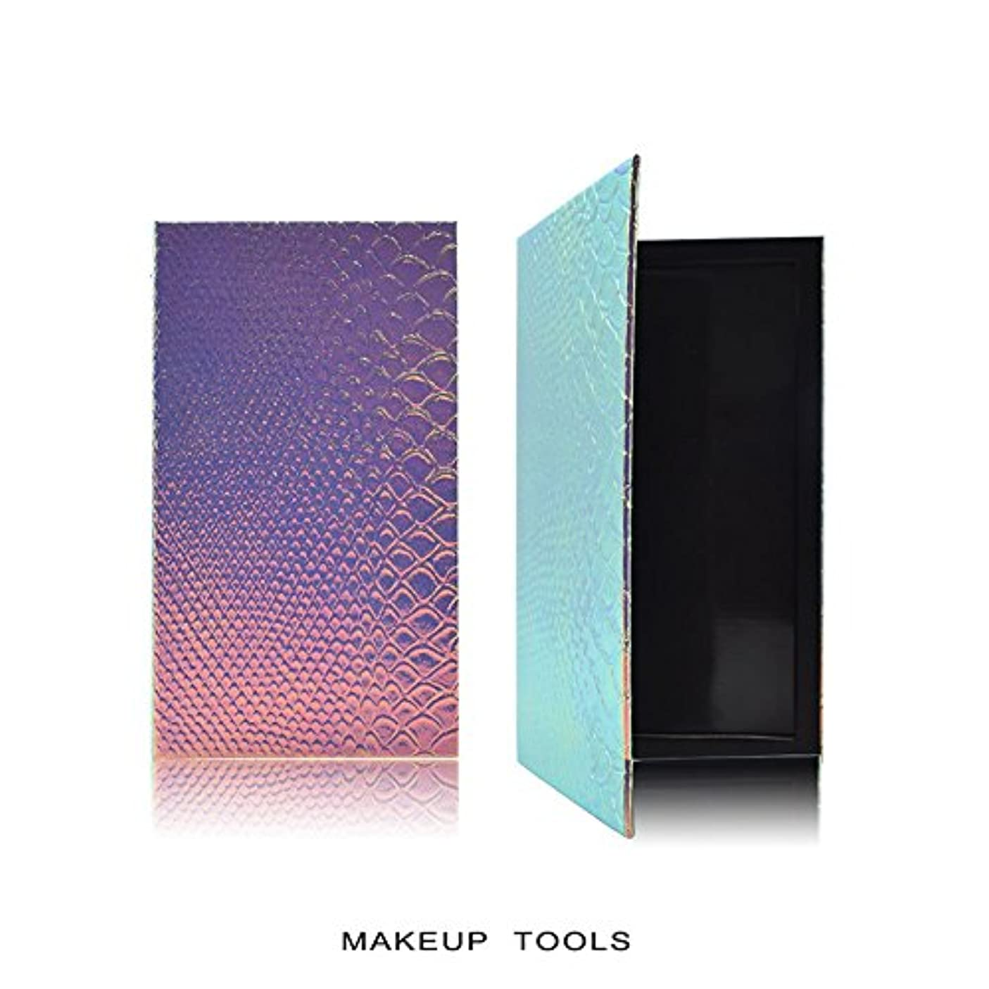 付与たぶん変換するRaiFu アイシャドウ パレット 化粧 空の磁気 自作携帯型 美容 化粧品の保管ツール うろこ 18*10CM