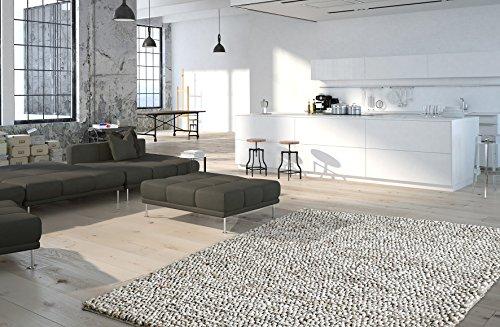 Moderner Shaggy Teppich My Lounge 440 von Obsession, in aktueller schlingen Optik, Handarbeit der Premiumklasse, in warmen wohnfarben, anthrazit, Silber, kaffe, Sand (80 x 150 cm, Lou 440 Sand)