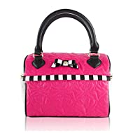 INTERESTPRINT Penguins Play Ice Skate Handle Satchel Handbags Tote Purse for Women