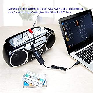 V.TOP USB 2.0 Audio Capture Card with Music Editing Software for Cassette Player Recorder - Convert Cassette/Radio to MP3 للبيع