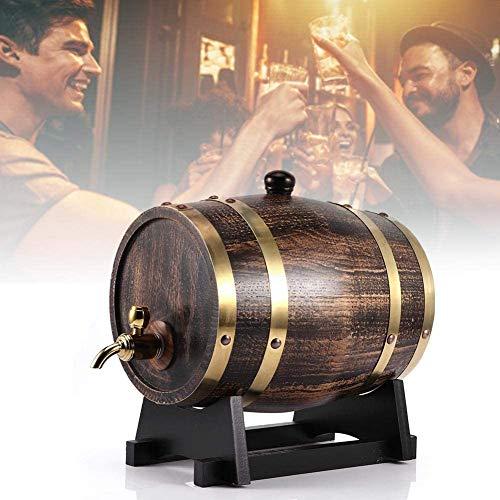 MRWW El Poder de StyleWine Retro fábrica de Cerveza de Madera, barricas de Roble 3L de Cerveza, Cerveza Nacional, Vino, Whisky, Tequila, Ron