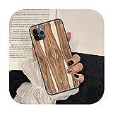 Funda de teléfono de grano de madera para iPhone 5 5s se 2 6 6s 7 8 12 mini plus X XS XR 11 PRO MAX negro TPU Etui moda cover-7-IphoneX XS