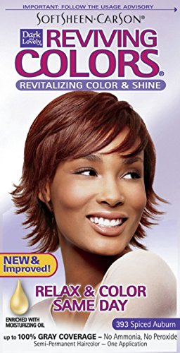 SoftSheen-Carson Dark and Lovely Reviving Colors Nourishing Color & Shine, Spiced Auburn 393