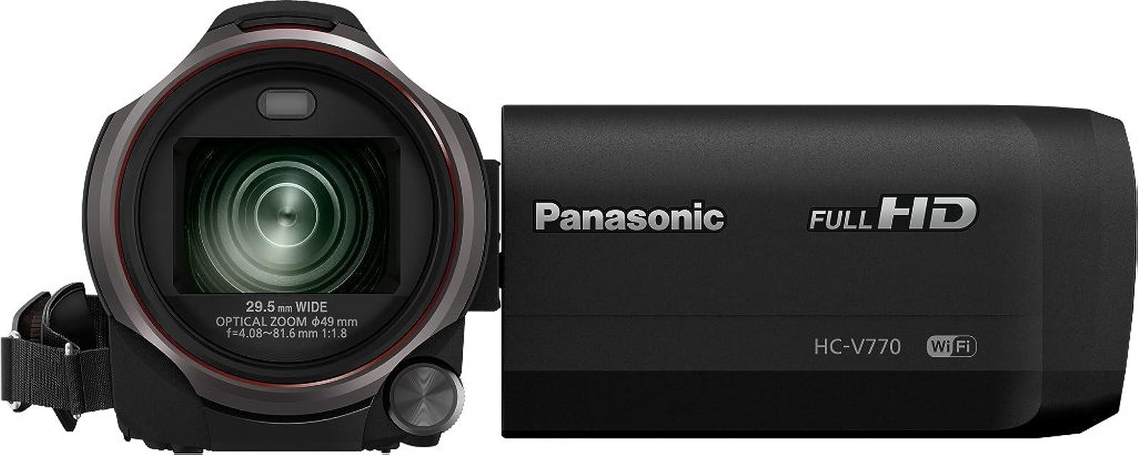 Panasonic HC-V770 1276 MP Mos BSI - Videocámara (1276 MP Mos BSI 254/23 mm (1/2.3) 603 MP 603 MP 20x) [Versión Importada]
