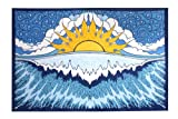 Sunshine Joy Sun Wave Surf Tapestry Tablecloth Beach Sheet Wall Art 60x 90 Inches - Classic