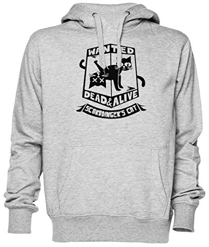 Schrodingers Cat Is Dead and Alive Gris Jersey Sudadera con Capucha Unisexo Hombre Mujer Grey Unisex Hoodie
