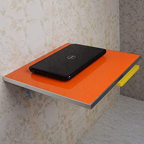 YZ Mesa plegable de pared de hoja abatible, cocina plegable, mesa de comedor, borde de aleación de aluminio,naranja,L50CM * W50CM